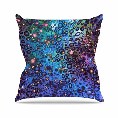 Ebi Emporium Rainbow Dotty Ocean, Outdoor Throw Pillow Size: 18 H x 18 W x 5 D, Color: Blue
