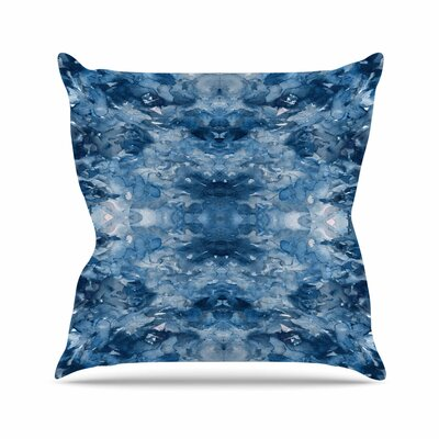 Ebi Emporium Tie Dye Helix Outdoor Throw Pillow Size: 18 H x 18 W x 5 D, Color: Blue/White
