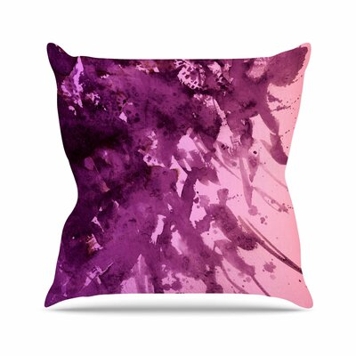 Ebi Emporium Splash Lavender Blush Outdoor Throw Pillow Size: 18 H x 18 W x 5 D, Color: Lavender