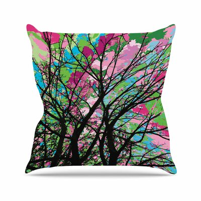 Empire Ruhl Tree of Spring 2 Nature Outdoor Throw Pillow Size: 18 H x 18 W x 5 D