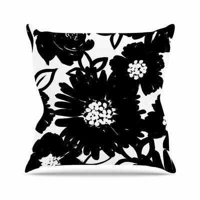 Emine Ortega Monochromatic Blooms Outdoor Throw Pillow Size: 18 H x 18 W x 5 D