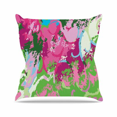 Empire Ruhl Spring Frolic Abstract Outdoor Throw Pillow Size: 16 H x 16 W x 5 D