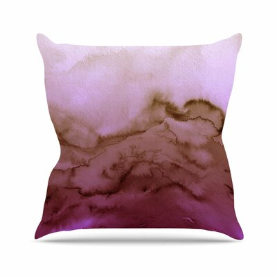 Ebi Emporium Winter Waves Outdoor Throw Pillow Size: 18 H x 18 W x 5 D, Color: Purple