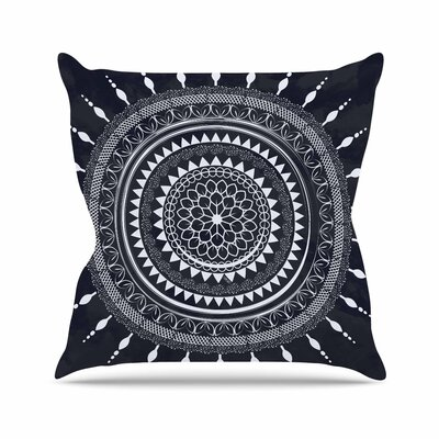 Famenxt Boho Aegean Mandala Outdoor Throw Pillow Size: 18 H x 18 W x 5 D