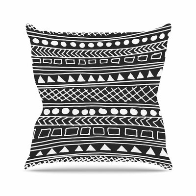 Fimbis Redefined BW Outdoor Throw Pillow Size: 18 H x 18 W x 5 D