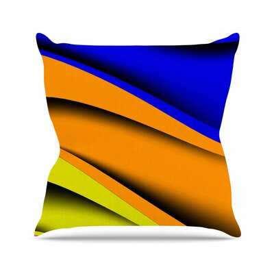 Fotios Pavlopoulos Colorful Flow Abstract Digital Outdoor Throw Pillow Size: 16 H x 16 W x 5 D