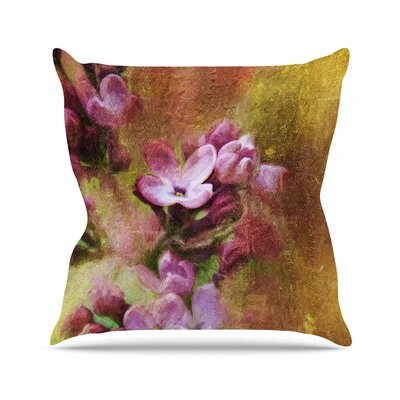 Ginkelmier Lilacs Floral Outdoor Throw Pillow Size: 16 H x 16 W x 5 D