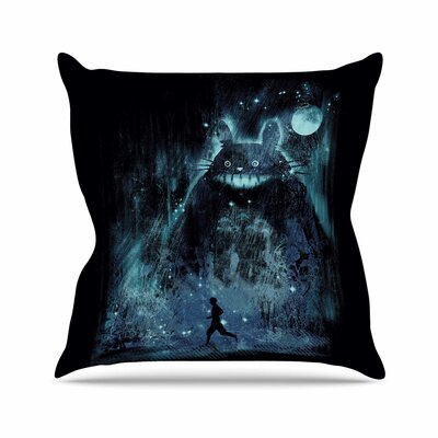Frederic Levy-Hadida The Hidden Friend Outdoor Throw Pillow Size: 18 H x 18 W x 5 D
