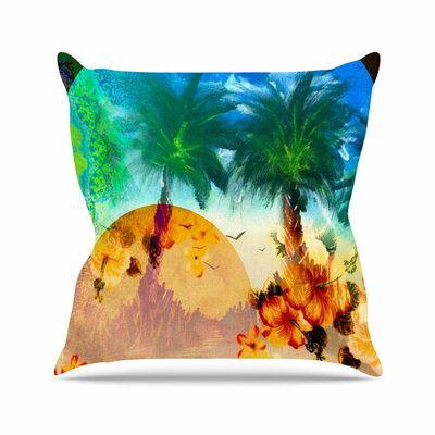 Infinite Spray Art Paradise Patterns Outdoor Throw Pillow Size: 16 H x 16 W x 5 D