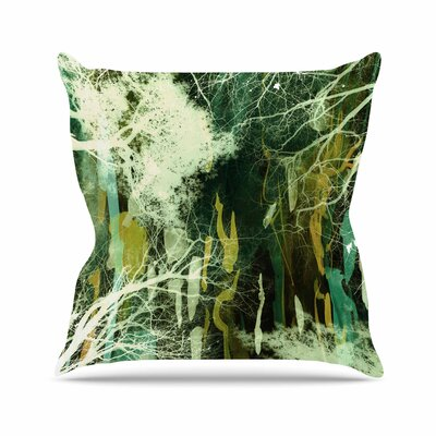 Iris Lehnhardt Tree of Life Nature Outdoor Throw Pillow Size: 18 H x 18 W x 5 D, Color: Green