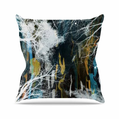 Iris Lehnhardt Tree of Life Nature Outdoor Throw Pillow Size: 18 H x 18 W x 5 D, Color: Blue
