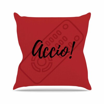 Jackie Rose Accio! Remote Illustration Outdoor Throw Pillow Size: 18 H x 18 W x 5 D