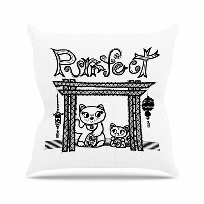 Jane Smith Purrfect Outdoor Throw Pillow Size: 18 H x 18 W x 5 D