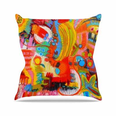 Jeff Ferst Flower Power Abstract Outdoor Throw Pillow Size: 16 H x 16 W x 5 D