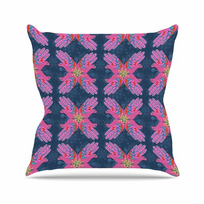 Jane Smith Hamsa Pattern Outdoor Throw Pillow Size: 18 H x 18 W x 5 D