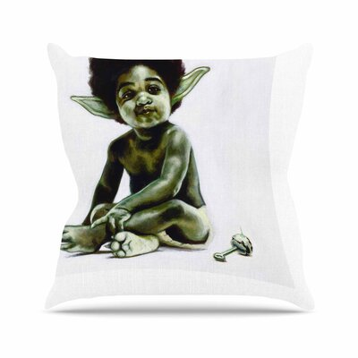 Jared Yamahata Ready to JEDI Pop Art Outdoor Throw Pillow Size: 18 H x 18 W x 5 D