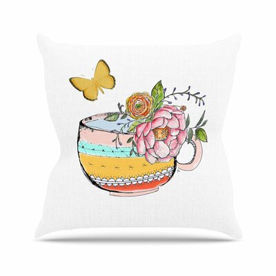 Jennifer Rizzo Tea Cup Vase Vintage Outdoor Throw Pillow EAAC3451 39194881
