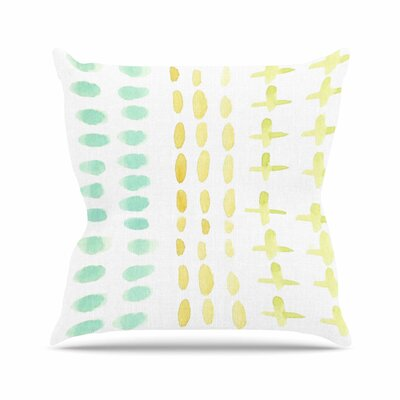 Jennifer Rizzo Dots and Dashes Outdoor Throw Pillow Size: 18 H x 18 W x 5 D