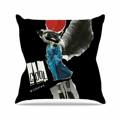 Jina Ninjjaga Cool Outdoor Throw Pillow Size: 16 H x 16 W x 5 D