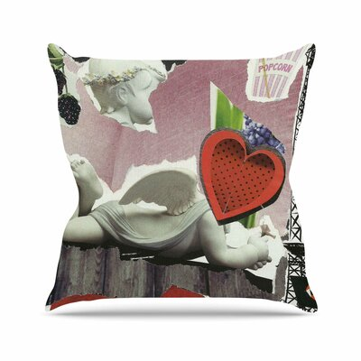Jina Ninjjaga Parish Pop Art Outdoor Throw Pillow Size: 18