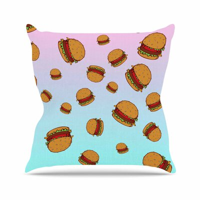 Juan Paolo Cheeseburger Paradise Outdoor Throw Pillow Size: 18 H x 18 W x 5 D