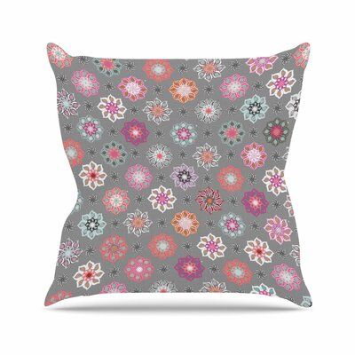 Jolene Heckman Mini Floral Outdoor Throw Pillow Size: 16 H x 16 W x 5 D