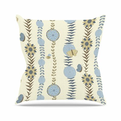 Judith Loske Flower Garden Outdoor Throw Pillow Size: 18 H x 18 W x 5 D