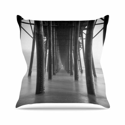 Juan Paolo Vanishing Point Coastal Photography Outdoor Throw Pillow Size: 18 H x 18 W x 5 D