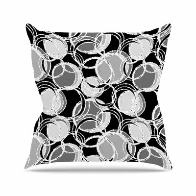 Julia Grifol Simple Circles Outdoor Throw Pillow Size: 16 H x 16 W x 5 D