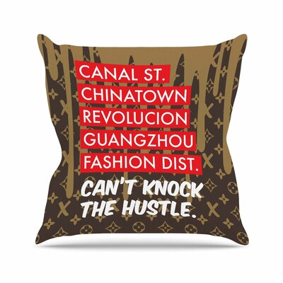Just L Can Urban Outdoor Throw Pillow Size: 16 H x 16 W x 5 D, Color: Brown