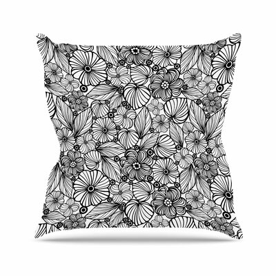Julia Grifol Flowers Outdoor Throw Pillow Size: 18 H x 18 W x 5 D