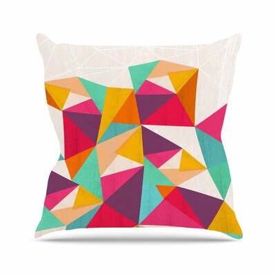 Kathleen Kelly Diamond Geometric Outdoor Throw Pillow Size: 18 H x 18 W x 5 D