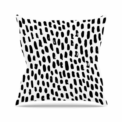 Ink Dots Outdoor Throw Pillow Size: 16 H x 16 W x 5 D