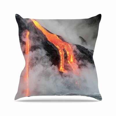 Hawaiian Lava Outdoor Throw Pillow Size: 18 H x 18 W x 5 D