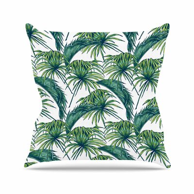 Palmtastic Abstract Outdoor Throw Pillow Size: 16 H x 16 W x 5 D, Color: Brown