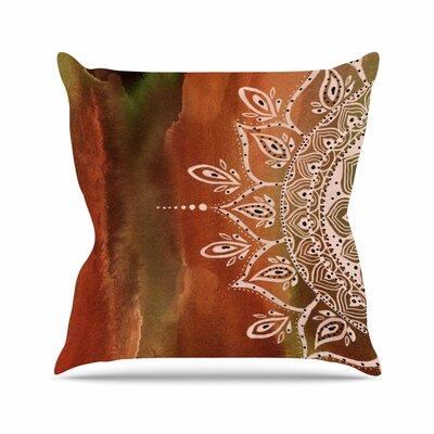Li Zamperini Autumn Mandala Outdoor Throw Pillow Size: 18 H x 18 W x 5 D