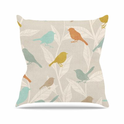 Tweet Nature Outdoor Throw Pillow Size: 18 H x 18 W x 5 D