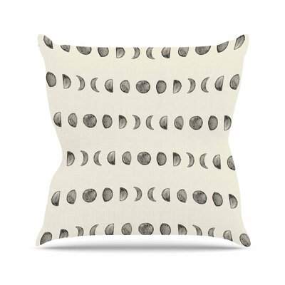 Phases of the Moon Outdoor Throw Pillow Size: 16 H x 16 W x 5 D
