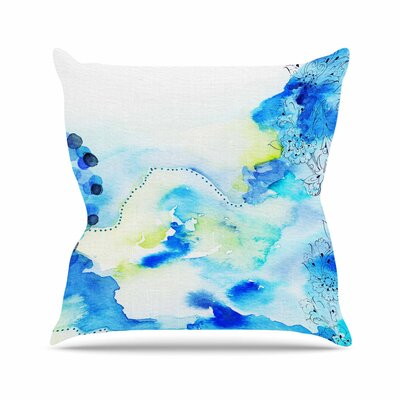 Li Zamperini Deep Sea Outdoor Throw Pillow Size: 18