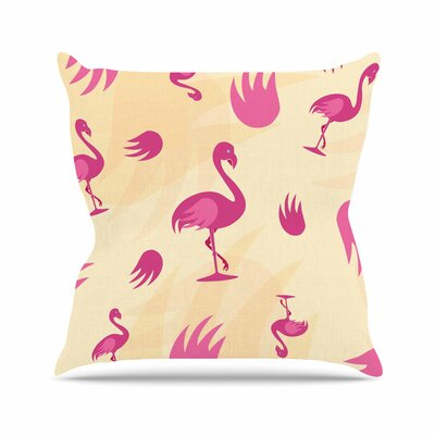 Wingin It Animals Outdoor Throw Pillow Size: 18 H x 18 W x 5 D