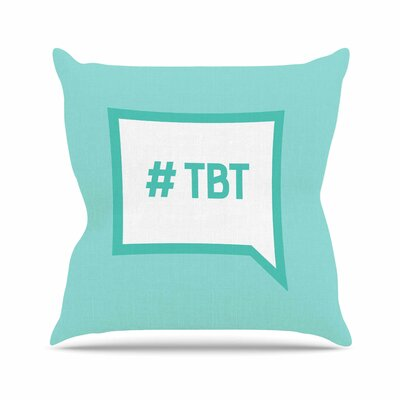 Throw Back Thursday Outdoor Throw Pillow Size: 18 H x 18 W x 5 D