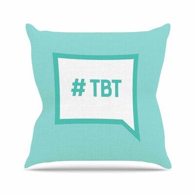 Throw Back Thursday Outdoor Throw Pillow Size: 16 H x 16 W x 5 D
