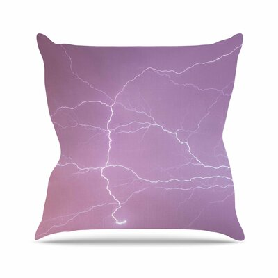 Pastel Lightning Outdoor Throw Pillow Size: 18 H x 18 W x 5 D