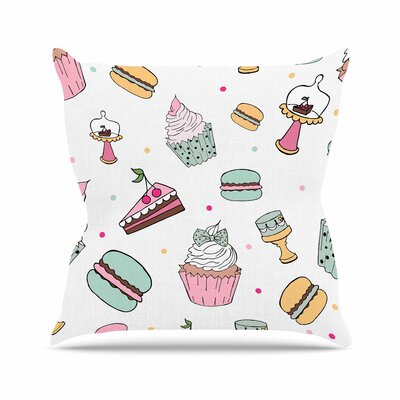 Louise Sweet Sweet Cake Food Outdoor Throw Pillow Size: 16 H x 16 W x 5 D