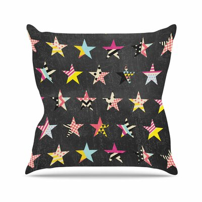 Louise Machado Dancing Stars Outdoor Throw Pillow Size: 16 H x 16 W x 5 D