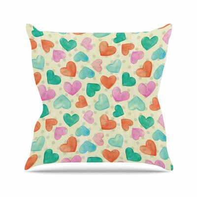 Louise Machado Hearts Outdoor Throw Pillow Size: 16 H x 16 W x 5 D