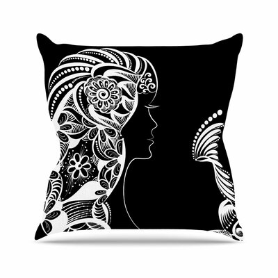 Maria Bazarova Horoscope Virgin Outdoor Throw Pillow Size: 16 H x 16 W x 5 D