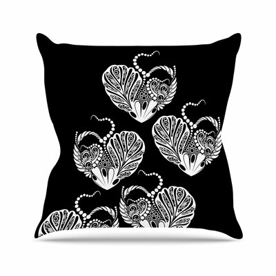 Maria Bazarova Heart Love Outdoor Throw Pillow Size: 18 H x 18 W x 5 D