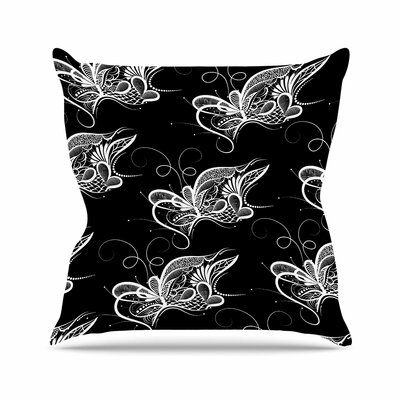 Maria Bazarova Butterfly Nature Outdoor Throw Pillow Size: 18 H x 18 W x 5 D