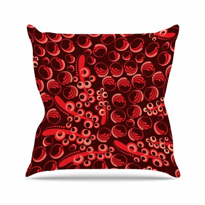 Maria Bazarova Berry Outdoor Throw Pillow Size: 18 H x 18 W x 5 D